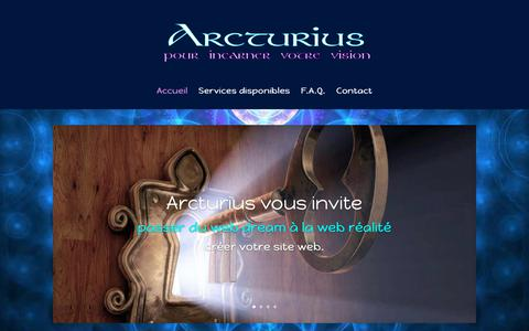 Screenshot of Home Page arcturius.com - Arcturius | Incarner votre vision - captured Oct. 26, 2018