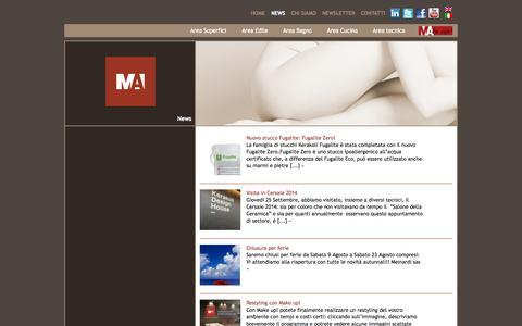 Screenshot of Press Page meinardi.it - News | Meinardi - captured Oct. 29, 2014