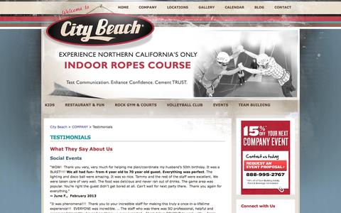 Screenshot of Testimonials Page citybeach.com - Testimonials  ::  City Beach - captured Sept. 29, 2014