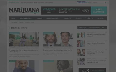 Screenshot of Team Page marijuana.com - People - captured Oct. 29, 2014