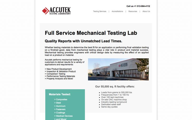 Mechanical Testing | Accutek Testing Laboratory