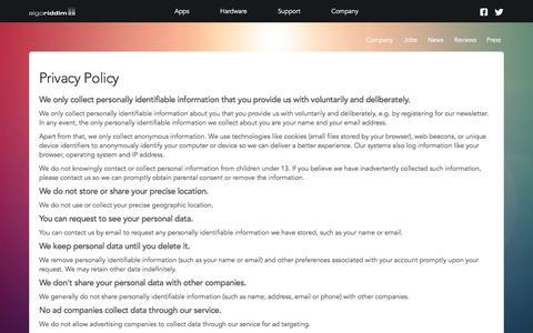 Algoriddim Č Privacy Policy Č Privacy
