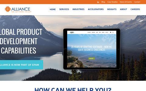 Screenshot of Home Page allianceglobalservices.com - Alliance Global Services - captured Nov. 26, 2015