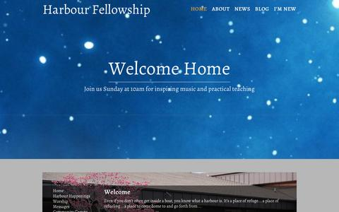 Screenshot of Home Page harbourfellowship.com - Harbour Fellowship Church - St. Catharines - captured Jan. 25, 2016
