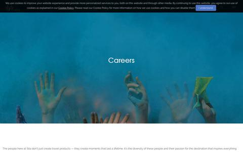 Screenshot of Jobs Page sita.in - Careers - Sita Travels - captured Nov. 7, 2018