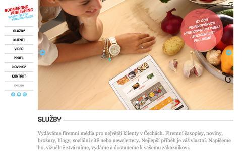 Screenshot of Home Page bpublishing.cz - Boomerang Publishing: nejlepší obsah je váš vlastní! - captured Feb. 7, 2016