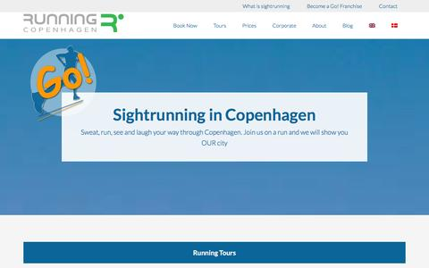 Screenshot of Home Page running-copenhagen.dk - Running Tours in Copenhagen - Running Copenhagen - captured Jan. 11, 2016