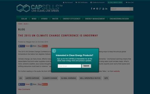 Screenshot of Blog capsells.com - Blog - captured Dec. 7, 2015