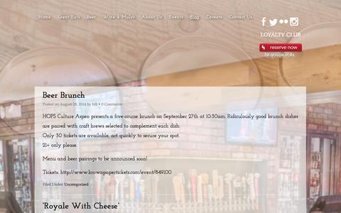 Screenshot of Blog hopsculture.com - Blog - HOPS Culture - captured Sept. 26, 2014