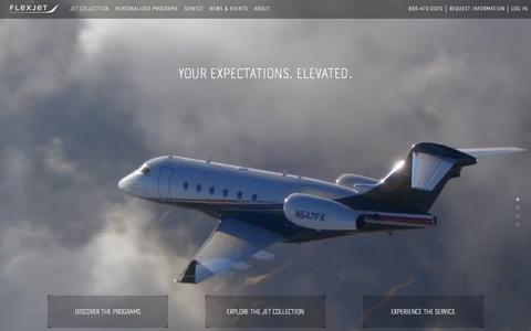 Screenshot of Home Page flexjet.com - Fractional Aircraft & Private Jet Sales | Flexjet - captured Aug. 3, 2015