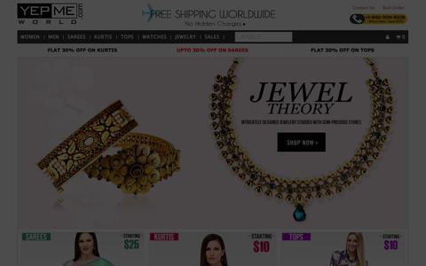 Screenshot of Home Page yepmeworld.com - Yepmeworld   Online Shopping - Clothing & Accessories   YepmeWorld - captured Sept. 19, 2014