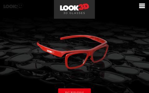 Screenshot of Home Page look3d.com - Look3D   Digital 3D Eyewear   3D Glasses - captured Sept. 30, 2018