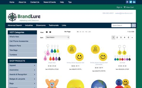 Screenshot of Team Page brandlure.com - BrandLure | Marketing with Direction | Promotional Products and Apparel | US - People - captured Nov. 23, 2016