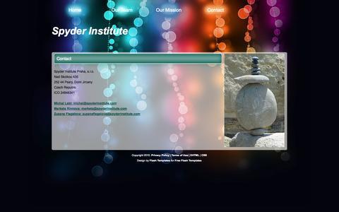Screenshot of Contact Page spyderinstitute.com - Spyder Institute: Contact - captured Oct. 6, 2014