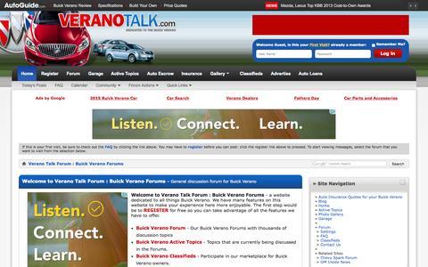 Screenshot of Home Page veranotalk.com - Verano Talk Forum : Buick Verano Forums - captured June 19, 2015