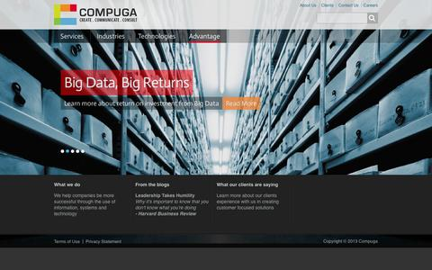 Screenshot of Home Page compuga.com - Compuga - Create, Communicate, Consult - captured Oct. 2, 2014