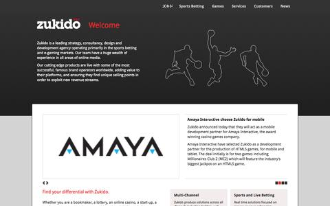 Screenshot of Home Page zukido.com - Zukido > Welcome - captured Sept. 30, 2014