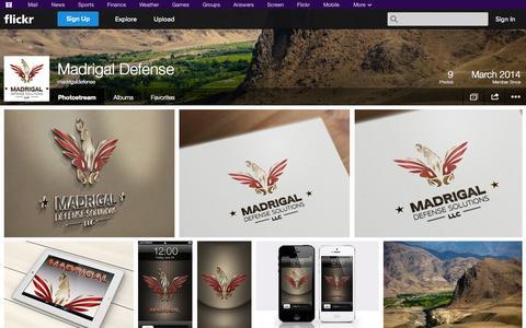 Screenshot of Flickr Page flickr.com - Flickr: madrigaldefense's Photostream - captured Oct. 23, 2014