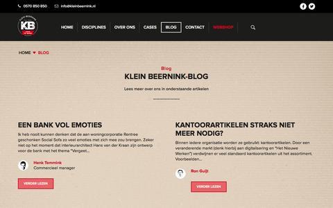Screenshot of Blog kleinbeernink.nl - Klein Beernink Blog - captured Jan. 9, 2016