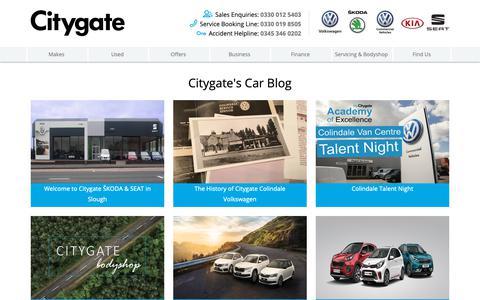Screenshot of Press Page citygate.co.uk - VW, Kia and ŠKODA News | Citygate - captured Dec. 14, 2018