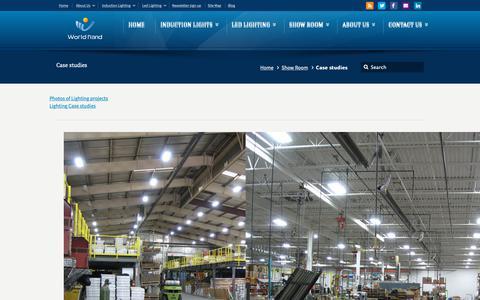 Screenshot of Case Studies Page ecolvd.com - Case studies – Induction lamps | Induction Lighting Professional Solutions - captured Nov. 5, 2018