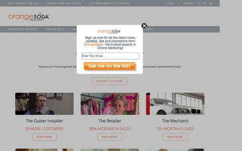 Screenshot of Case Studies Page orangesoda.com - Case Studies | OrangeSoda - captured Dec. 11, 2015
