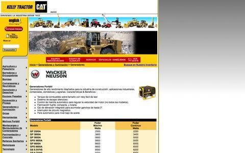 Screenshot of Landing Page kellytractor.com - Kelly Tractor: Generadores - captured Aug. 12, 2016
