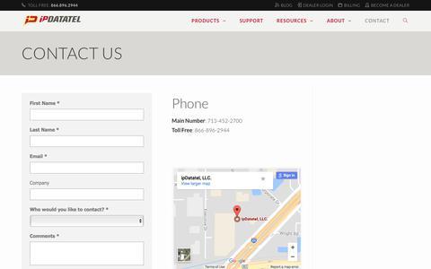 Contact Us - ipDatatel