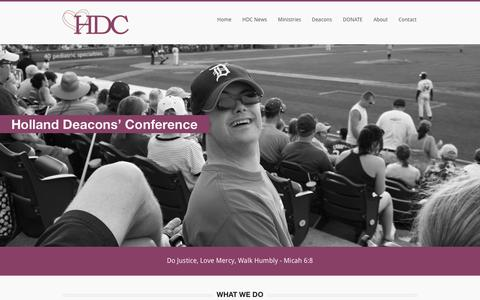 Screenshot of Home Page hdccrc.org - HDC | Transforming Lives & Communities Together - captured Jan. 30, 2016