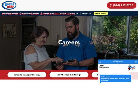 Screenshot of Jobs Page rooterhero.com - Careers – Rooter Hero - captured Oct. 20, 2018