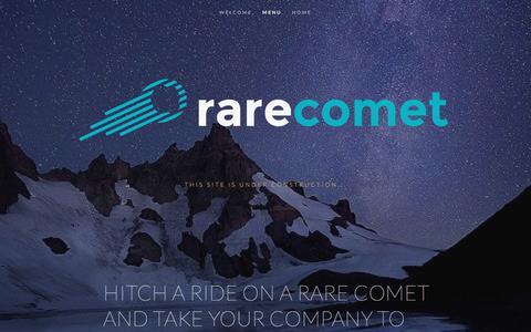 Screenshot of Menu Page rarecomet.com - Menu — Rare Comet - captured Oct. 27, 2017