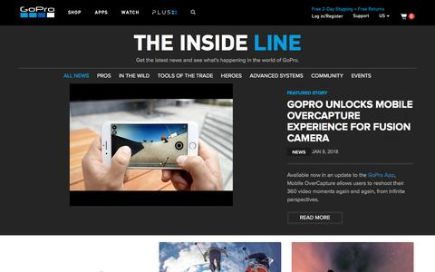 GoPro Official Website - Capture + share your world - News