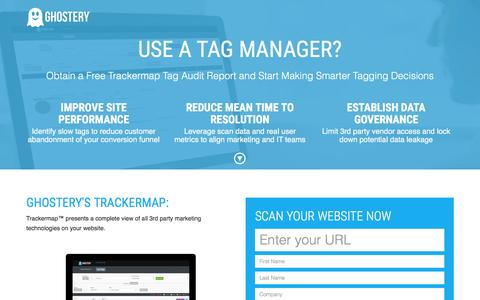 Screenshot of Landing Page ghostery.com - Ghostery Trackermap - captured March 16, 2016