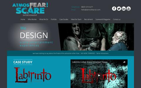 Screenshot of Case Studies Page atmosfearuk.com - CASE STUDY – AtmosFEAR Scare Entertainment - captured Nov. 21, 2016