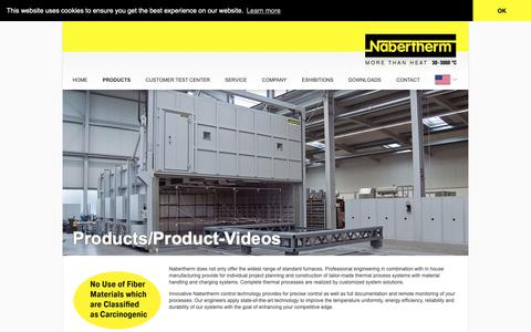Screenshot of Products Page nabertherm.com - Products | Home - Nabertherm Industrial Furnace Manufacturing - captured Oct. 20, 2018
