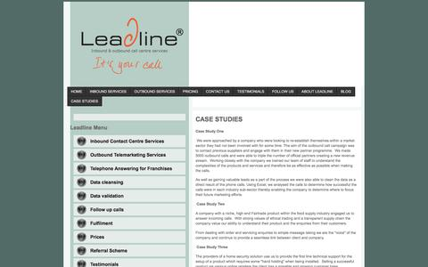 Screenshot of Case Studies Page leadline.co.uk - Case Studies | Leadline - captured July 25, 2017