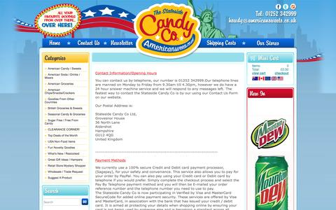 Screenshot of Terms Page americansweets.co.uk - www.Americansweets.co.uk Terms and Conditions - captured Sept. 19, 2014