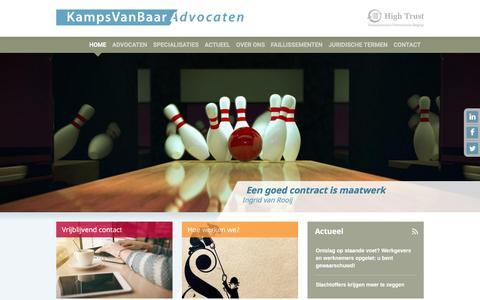 Screenshot of Contact Page kampsvanbaar.nl - KampsVanBaar Advocaten   KampsVanBaar Advocaten - Sittard / Maastricht - captured Nov. 27, 2016