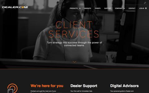 Screenshot of Support Page dealer.com - Dealer.com's Automotive Tech Support and Digital Advisory Teams - captured Nov. 18, 2017