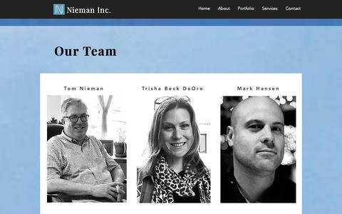 Screenshot of Team Page niemaninc.com - Nieman Inc. | Our Team - captured Oct. 20, 2018