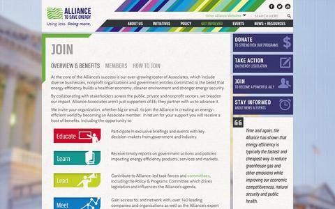 Screenshot of Signup Page ase.org - Join: Overview & Benefits | Alliance to Save Energy - captured Sept. 23, 2014