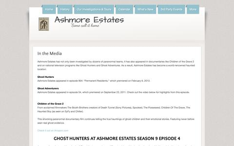 Screenshot of Press Page hauntedashmoreestates.com - Ashmore Estates - Media - captured Nov. 29, 2018