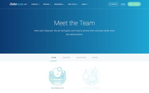 Screenshot of Team Page datanyze.com - Team | Datanyze - captured May 14, 2018