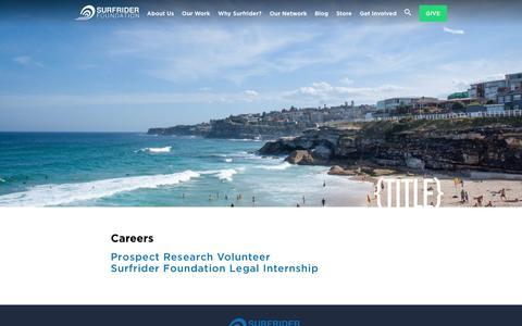 Screenshot of Jobs Page surfrider.org - Careers - Surfrider Foundation - captured July 18, 2017