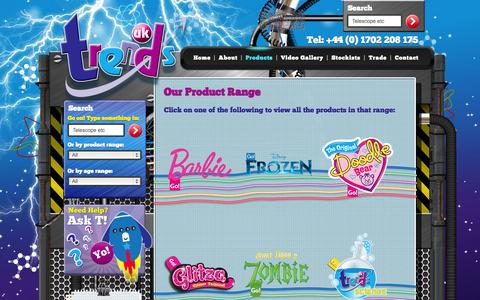 Screenshot of Products Page trendsuk.co.uk - Our Product Range | Trends UK - captured Oct. 7, 2014