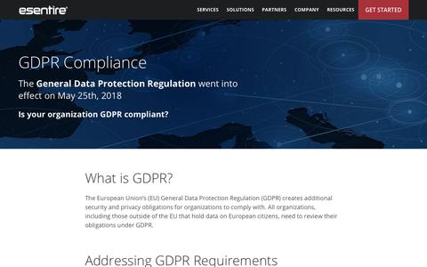 GDPR Compliance | eSentire