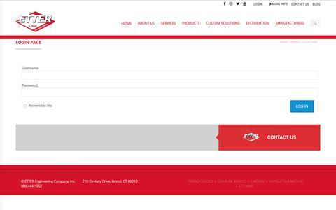 Screenshot of Login Page etterengineering.com - Login Page - Etter Engineering Company - captured Aug. 10, 2019