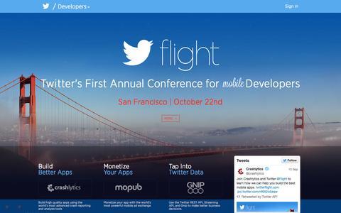 Screenshot of Developers Page twitter.com - Home - captured Sept. 13, 2014