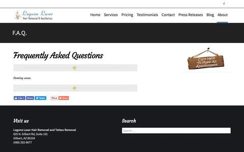 Screenshot of FAQ Page lagunahr.com - F.A.Q.   Laguna Laser Hair Removal - captured Oct. 19, 2016