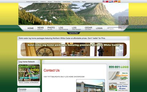 Screenshot of Contact Page mountaincreations.com - Contact Us - Mountain Creations Log Homes - captured Oct. 26, 2014